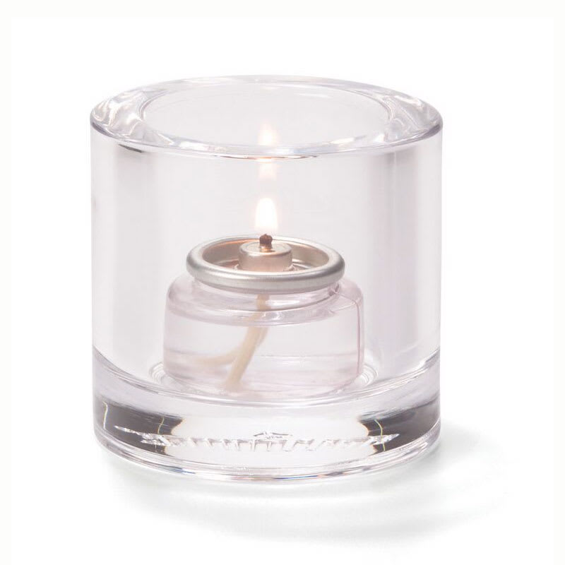 "Hollowick 5140C Tealight Glass Lamp, Clear, Thick Glass, 2-7/8""H x 2-3/4""dia."