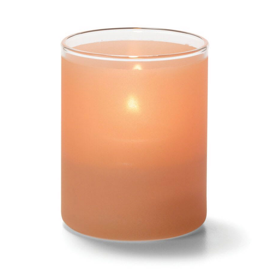 "Hollowick 5176STC Tealight Lamp w/ Cylinder Style, 2.5x2"", Glass, Satin Terra Cotta"