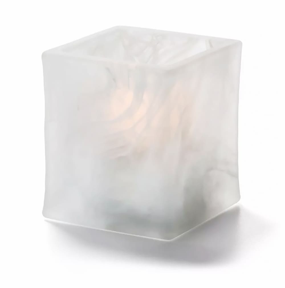 "Hollowick 5180SC 2.75"" Glacier™ Tealight Lamp for HD8 Fuel Cell - Glass, Satin Crystal Wysp"