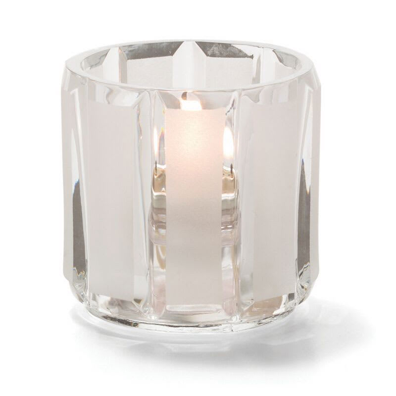 "Hollowick 5690C_SC Tealight Lamp for HD8, 2.38x2.5"", Glass, Crystal/Satin"