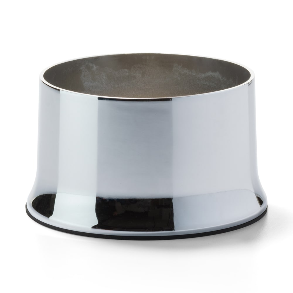 "Hollowick 602 Cocktail II Round Lamp Base for HD36 - 2"" x 3.63"", Polished Chrome"