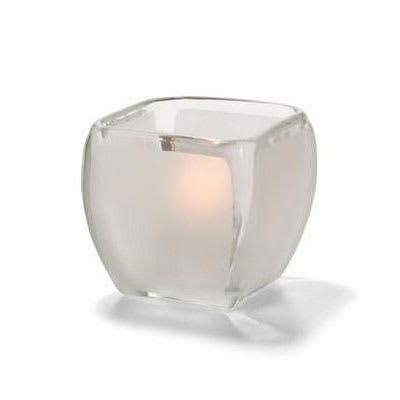 "Hollowick 6105F Square Votive Lamp - 3.5"" x 3.25"", Satin Glass"