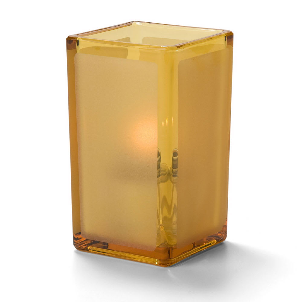 Hollowick 6109FA Quad Votive Lamp For HD8 Or HD15, Amber Satin Panel