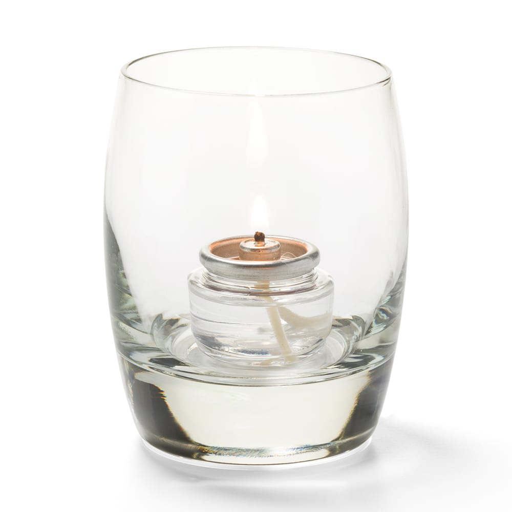 "Hollowick 6404C Contour Votive for HD15, HD12 & HD8, 3x3.75"", Glass, Clear"