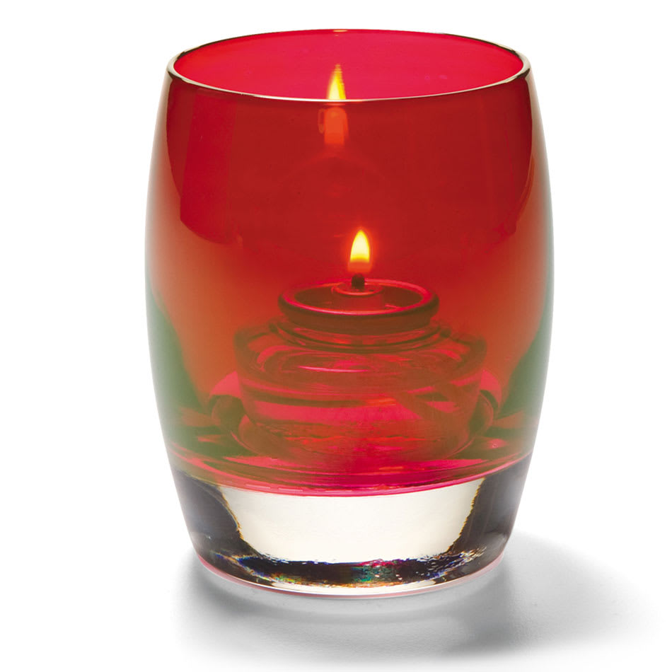 Hollowick 6404R Contour Votive Holder for HD8, HD12, & HD15, Ruby Lustre
