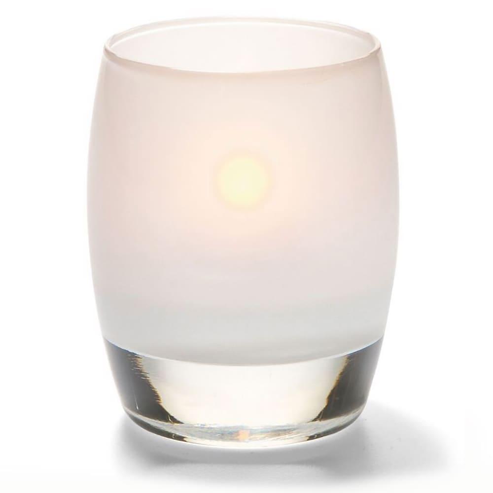 "Hollowick 6404SL Contour Votive Lamp w/ Heavy Base - 3.75"" x 3"", Satin Glass"