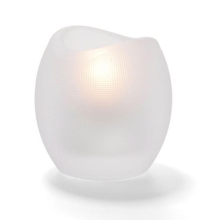 "Hollowick 6701SC Pixel Tealight Holder w/ Mesh Texture, 3x2.88"", Satin Crystal"