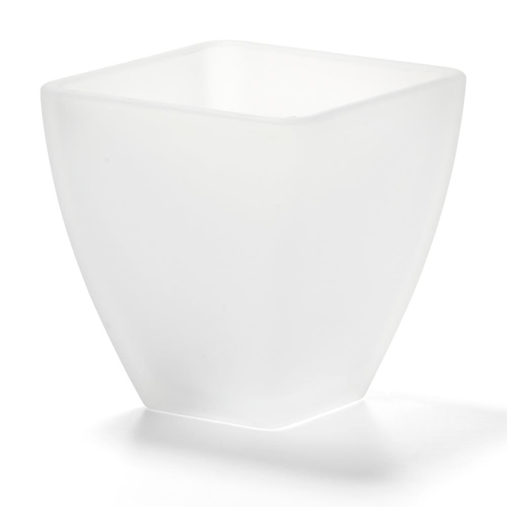 "Hollowick 67SC Tealight / Votive Globe, Mini Pyramid, Satin Crystal Glass, 3"" X 3 in, No Base"