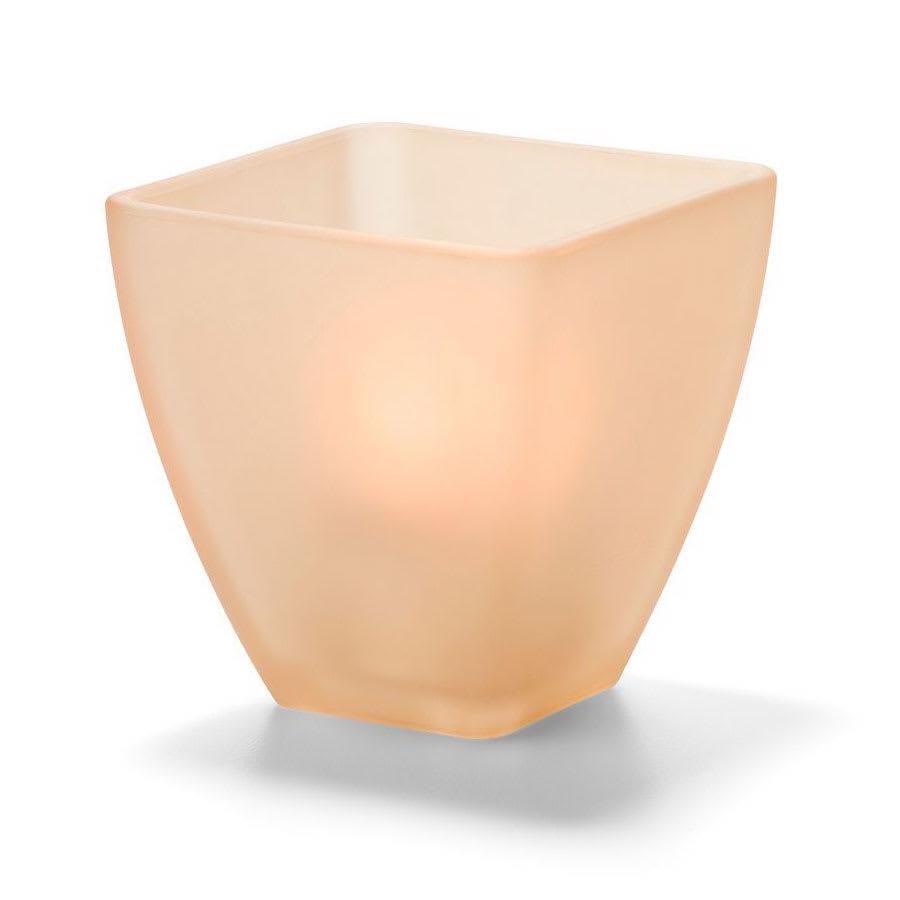 Hollowick 67SCA Votive Globe, Satin Crystal, Amber