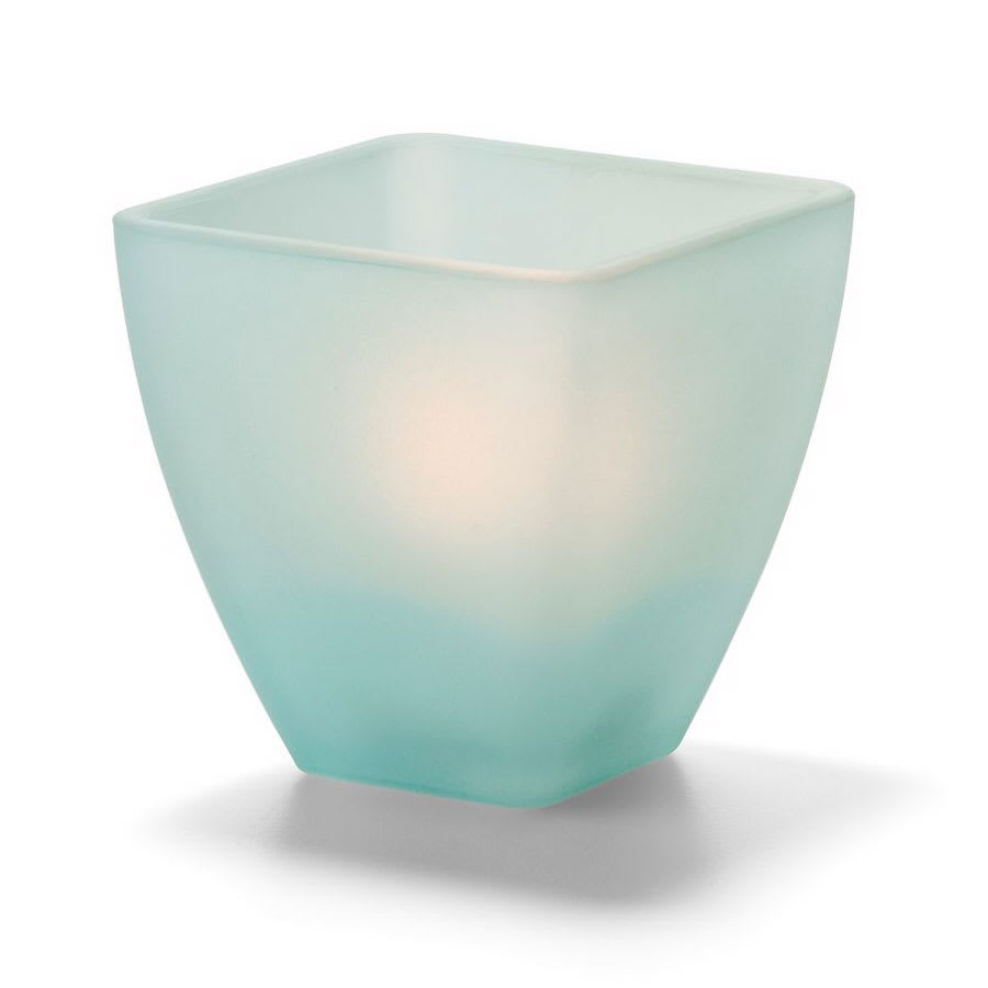 Hollowick 67SCG Votive Globe, Satin Crystal, Seafoam
