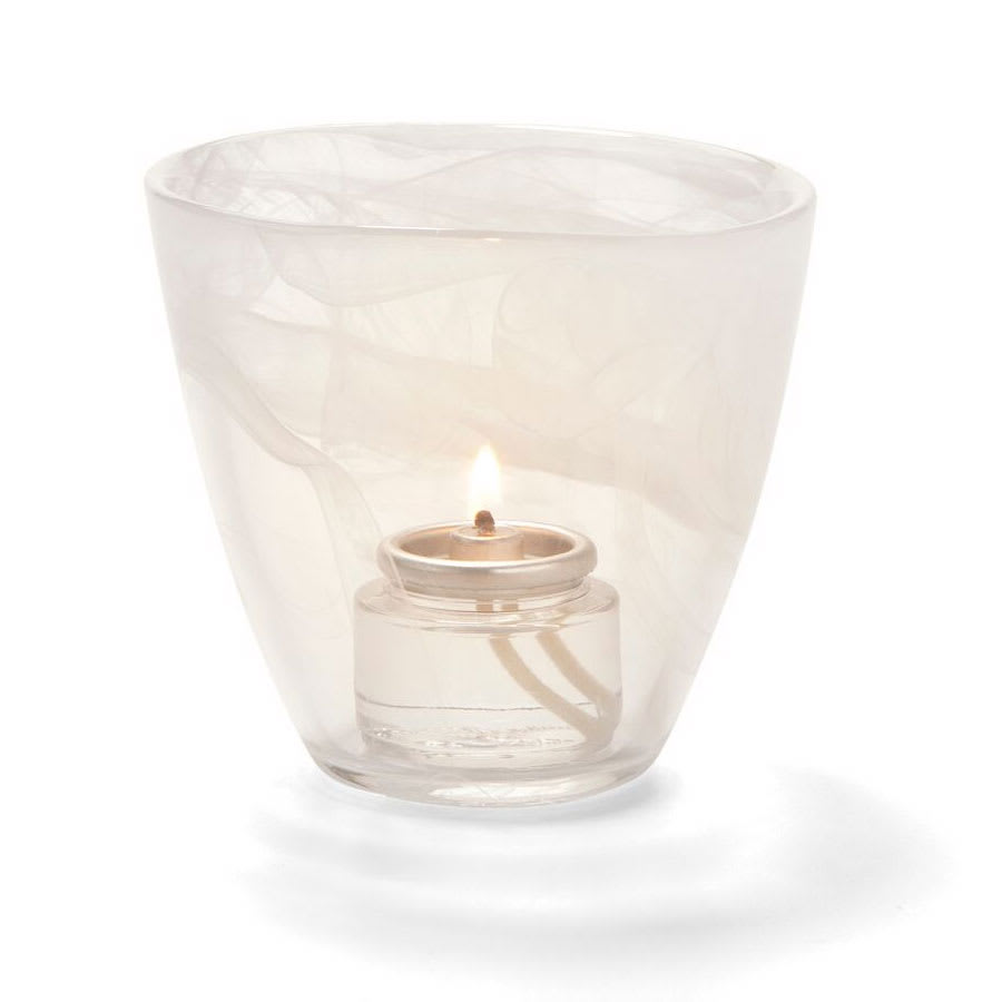 "Hollowick 6806W Wysp Votive, 3.5x3.75"", Glass, White"