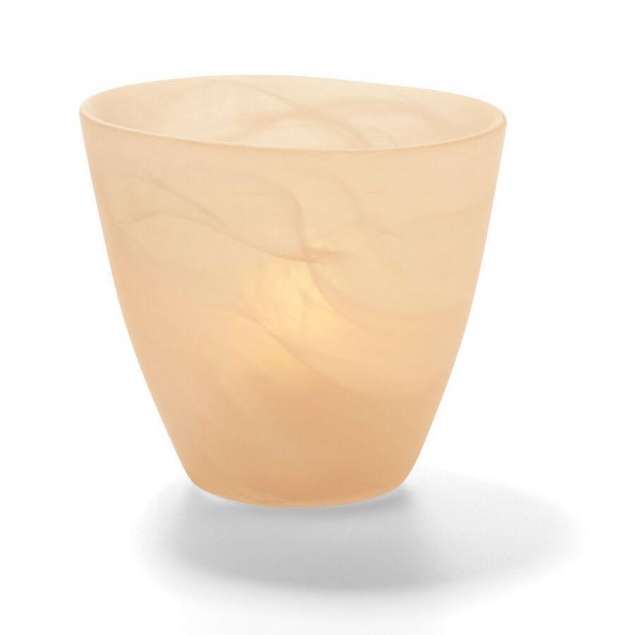 """Hollowick 6817SCA Wysp Votive, 3.5x3.75"""", Glass, Satin Amber"""