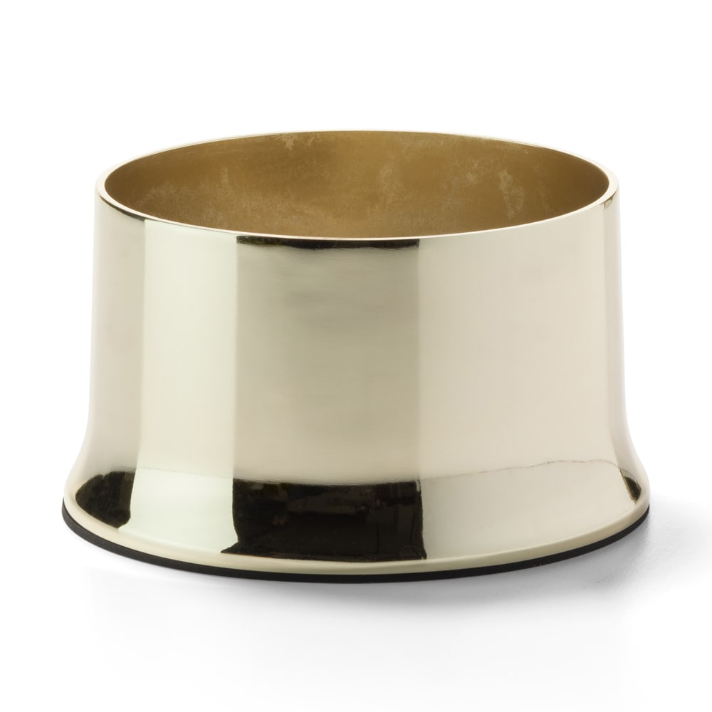 "Hollowick 702 Cocktail II Round Lamp Base for HD36 - 2"" x 3.63"", Polished Brass"
