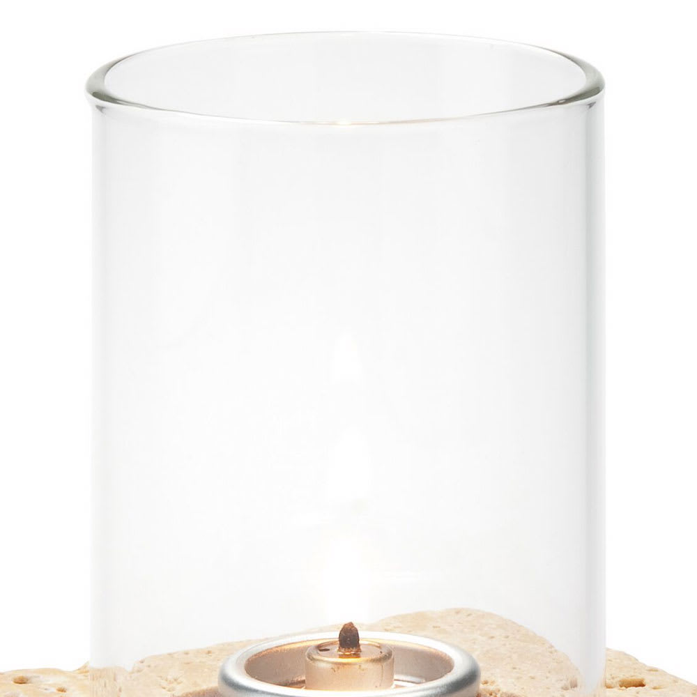 """Hollowick 78C Small Cylinder Fitter Globe, 2.25"""" Diameter, Clear Glass"""