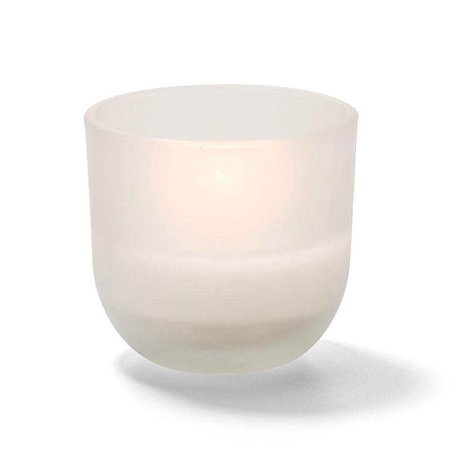 "Hollowick CL530F-48 5 hr Caterlites Disposable Wax Candle - 2"" x 1.87"", Frosted"