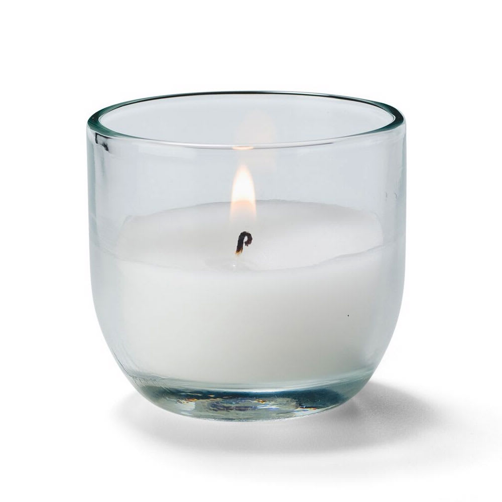 Hollowick CL830-48 CaterLites Disposable Candle w/ 8 Hour Burn Time, Clear Glass