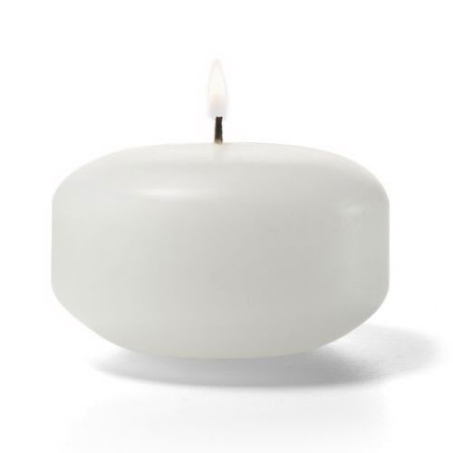 """Hollowick FC2W-144 Floating Candle, 2x1.19"""", Wax, White"""