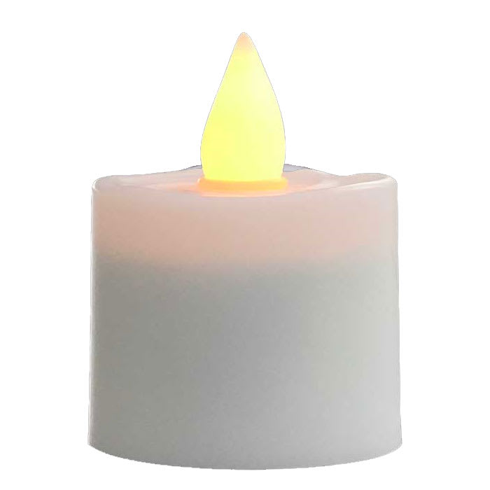 """Hollowick HFRP-A 1.5"""" Round LED Flameless Votive Candle - 2.3""""H, Amber Flame"""