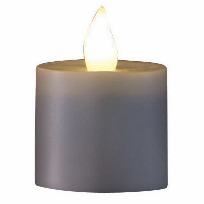 """Hollowick HFRP-WW 1.5"""" Round LED Flameless Votive Candle - 2.3""""H, Warm White Flame"""
