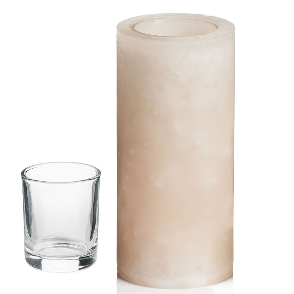 """Hollowick L6PP Luminaires Pillar Candle Holder for HD8 - 3"""" x 6"""", Champagne"""