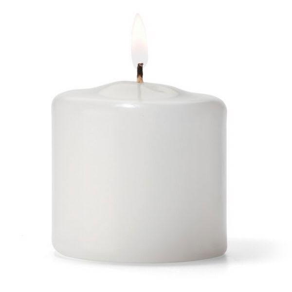 "Hollowick P2.5W-36 Pillar Candle, 2.5x2.5"", Wax, White"