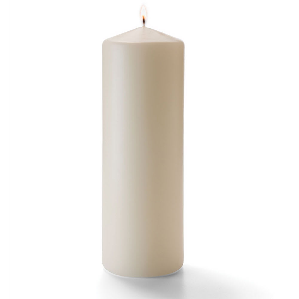 "Hollowick P3X9I-12 Wax Pillar Candle - 3"" x 9"", Wax, Ivory"