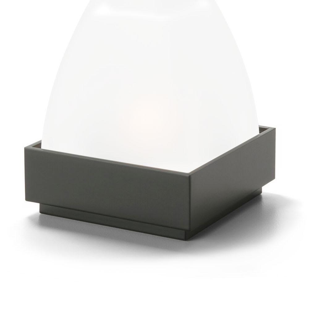 "Hollowick PF31 Square Votive Lamp Base for 675SC Globe, 3.25x1.25"", Metal, Black"