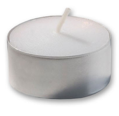 Hollowick TL7W-400 7 hr Metal Cup Tealight Candles