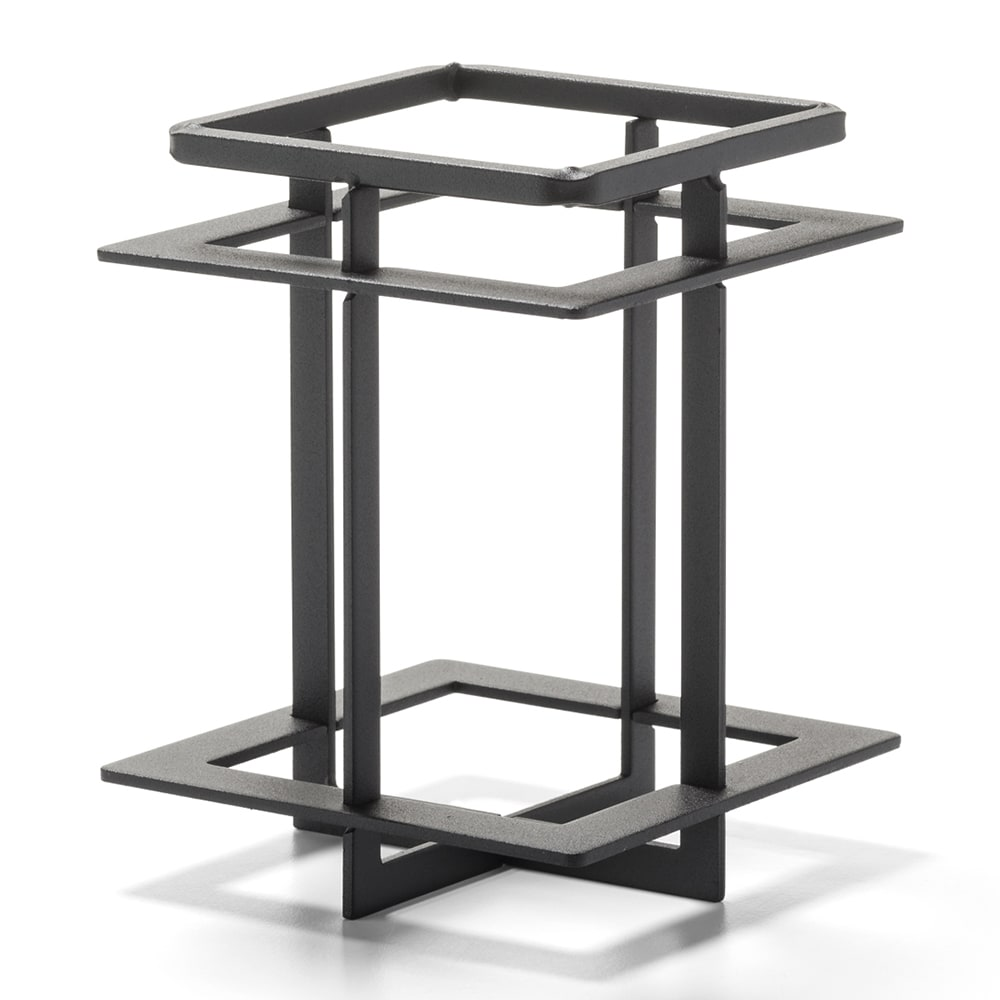 """Hollowick WRQD39 Craftsman Frame for Quad Votive - 3.5"""" x 4.5"""", Wrought Iron"""