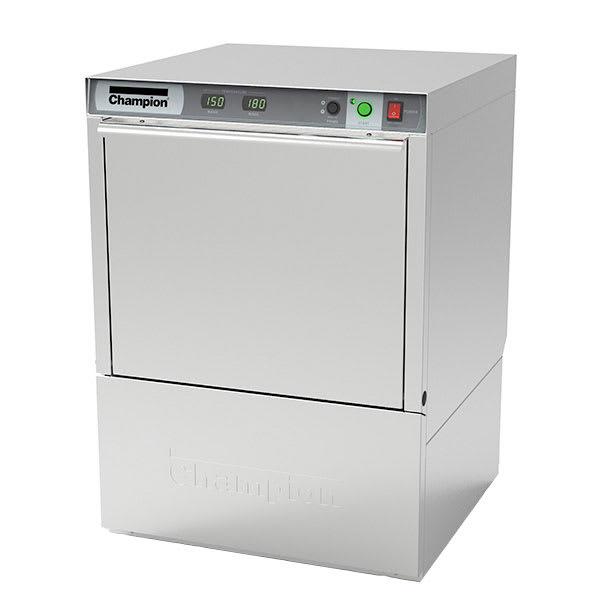 Champion UH130B High Temp Rack Undercounter Dishwasher w/ Built-In Booster & (25) Racks/hr, 208v/3ph