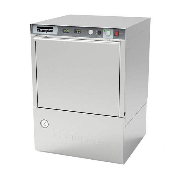 Champion UH230B High Temp Rack Undercounter Dishwasher w/ Built-In Booster & (40) Racks/hr, 240v/1ph