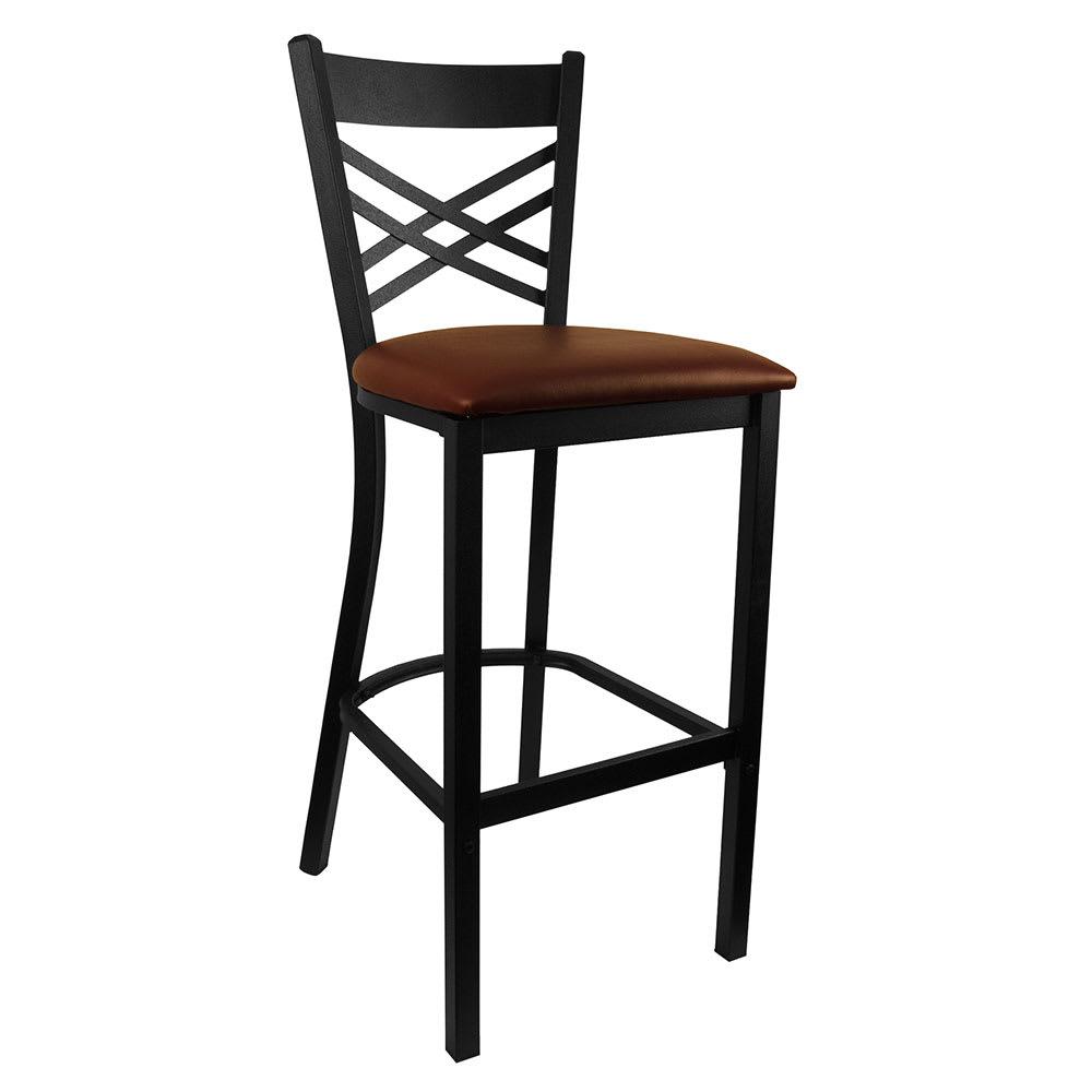 Miraculous Hd Commercial Seating 6159B 42 Barstool W Cross Back Burgundy Vinyl Seat Black Metal Frame Spiritservingveterans Wood Chair Design Ideas Spiritservingveteransorg