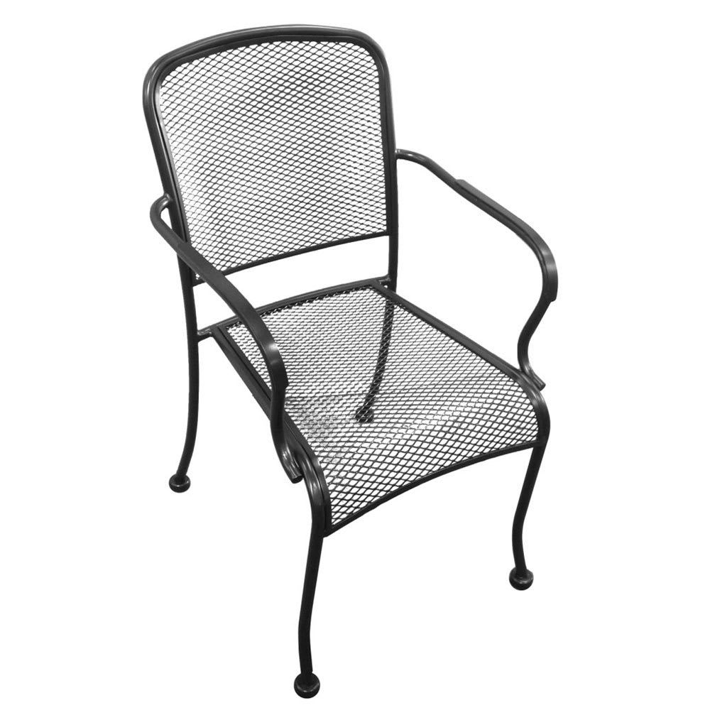 4298744ff2ef H D Commercial Seating MC19A Stacking Arm Chair w  Metal Mesh ...