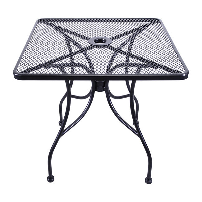 H D Commercial Seating Mt3030 Outdoor Patio Table 30 Square Wrought Iron Black
