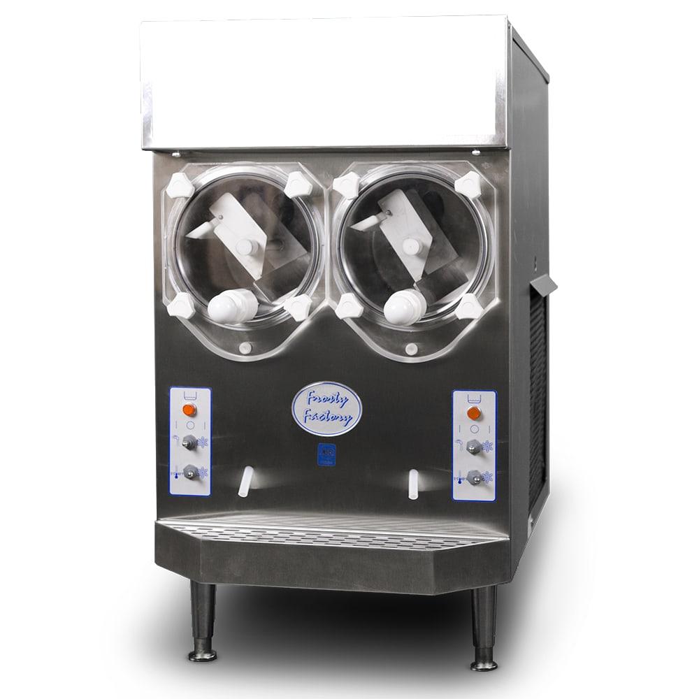 Frosty Factory 217A Frozen Drink Machine, 2 Flavor, (2) 8 qt Hopper, (64) 10 oz/Hr