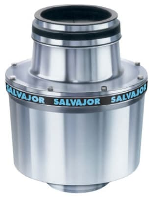 Salvajor 150-CA-ARSS 1151 Complete Disposer Package, 1-1/2 HP, Auto Reverse, 12 in Cone, 115 V
