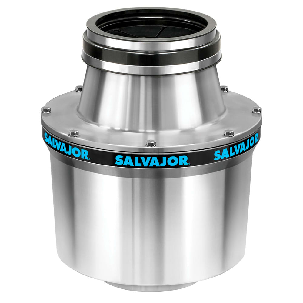 Salvajor 200-SA-MSS Disposer Package, Sink/Trough Mount, 2 HP, 230/3 V