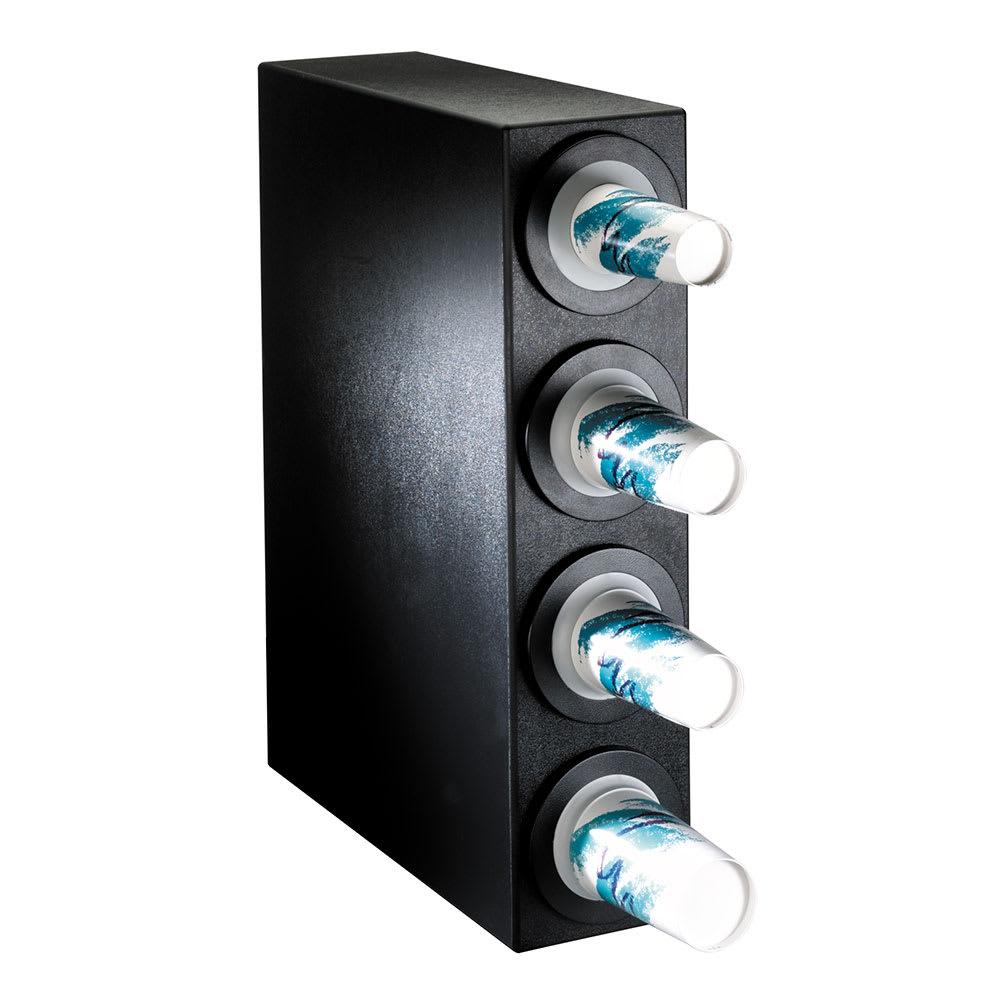 Dispense-rite BFLS4BT Cup Dispensing Cabinet, (4) 8 44 oz Cups, Black Texture Polystyrene