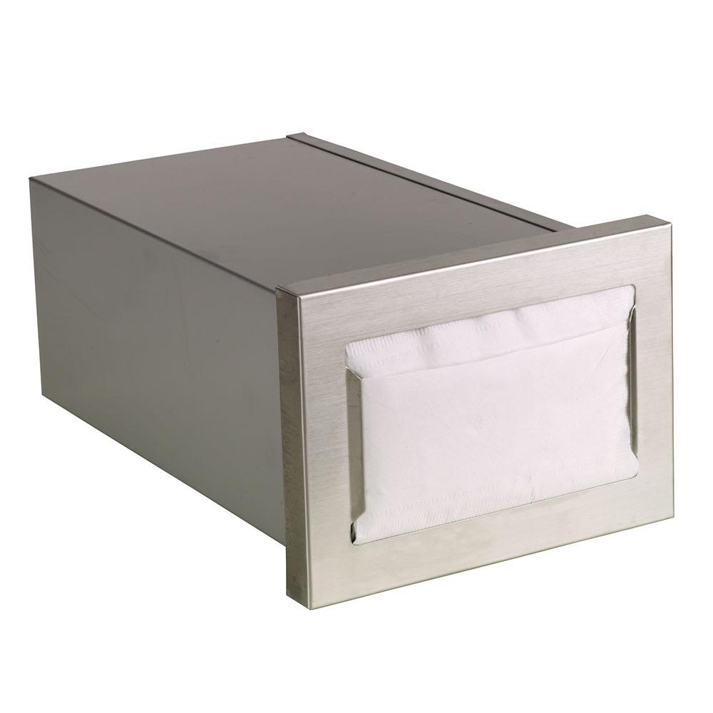 "Dispense-rite CMND-1 Napkin Dispenser, Built-In, Holds 4 1/2 to 5"" X 6 1/2"" Napkins, Horizontal"