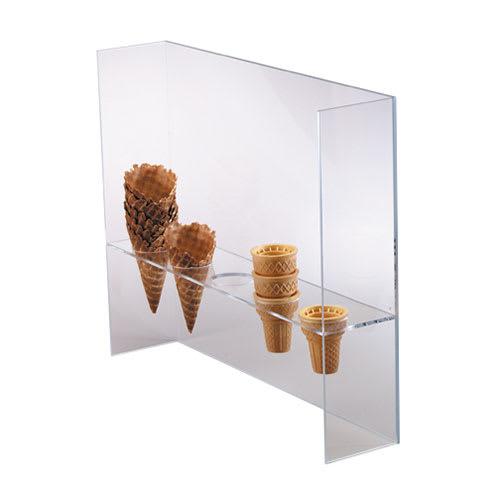 "Dispense-rite CSG5L Ice Cream Cone Holder w/ Guard, (5) 2""Holes, Acrylic, Clear"