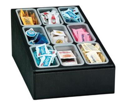 Dispense-rite CTCD9BT Condiment Organizer w/ 1-Pint Insert/Compartment, Black