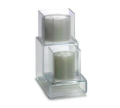"""Dispense-rite CTVL2 Lid Organizer, Vertical, 2 Section: (1) 4""""& (1) 5 in, 6""""W, Acrylic, Clear"""