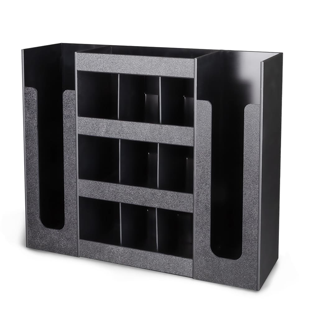 "Dispense-rite DLCO-5BT 6-Section Organizer, 16-3/4 x 20-3/4 x 5-1/2"", Black"