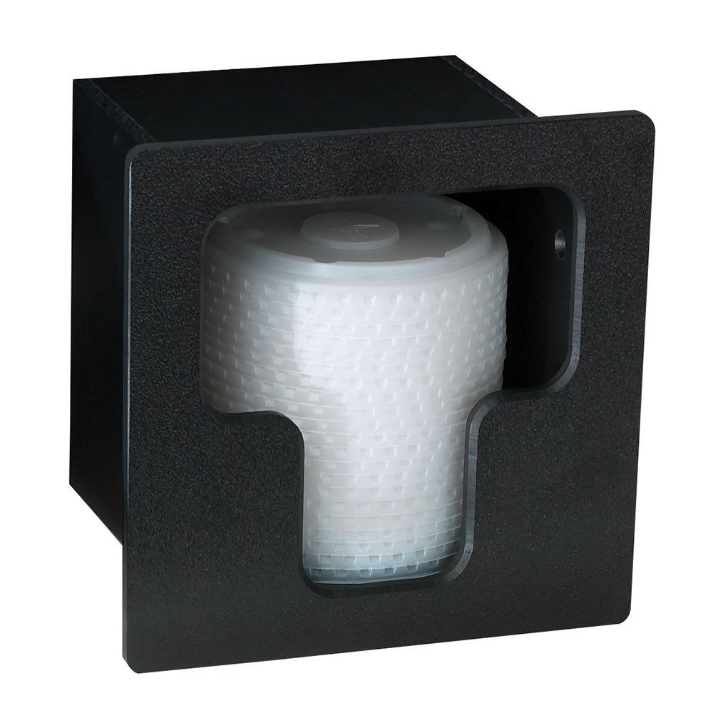 Dispense-rite FMVL1 Lid Dispenser, Built-In, 1 Section, Polystyrene, Black