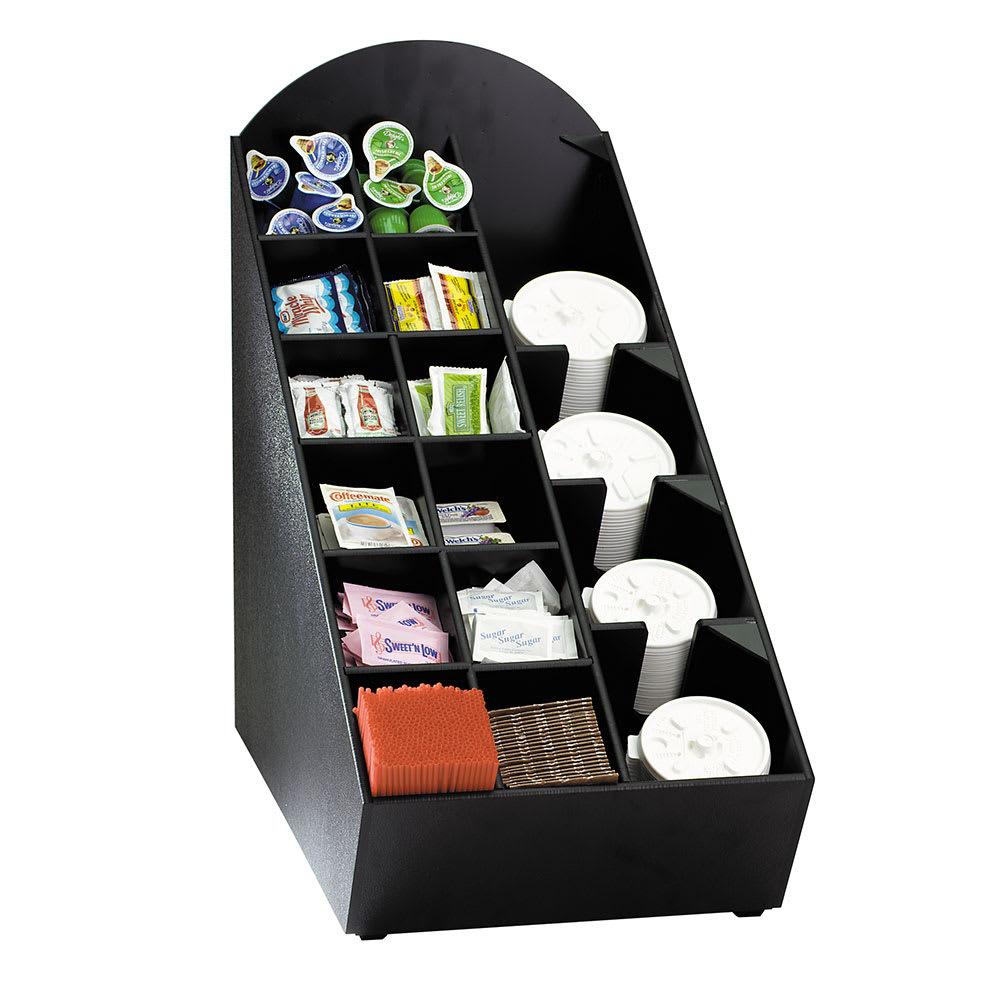 "Dispense-rite NLOWVL Lid, Straw & Condiment Organizer, 20-1/2""H x 11-1/2""W x 21-3/4""D, Black"