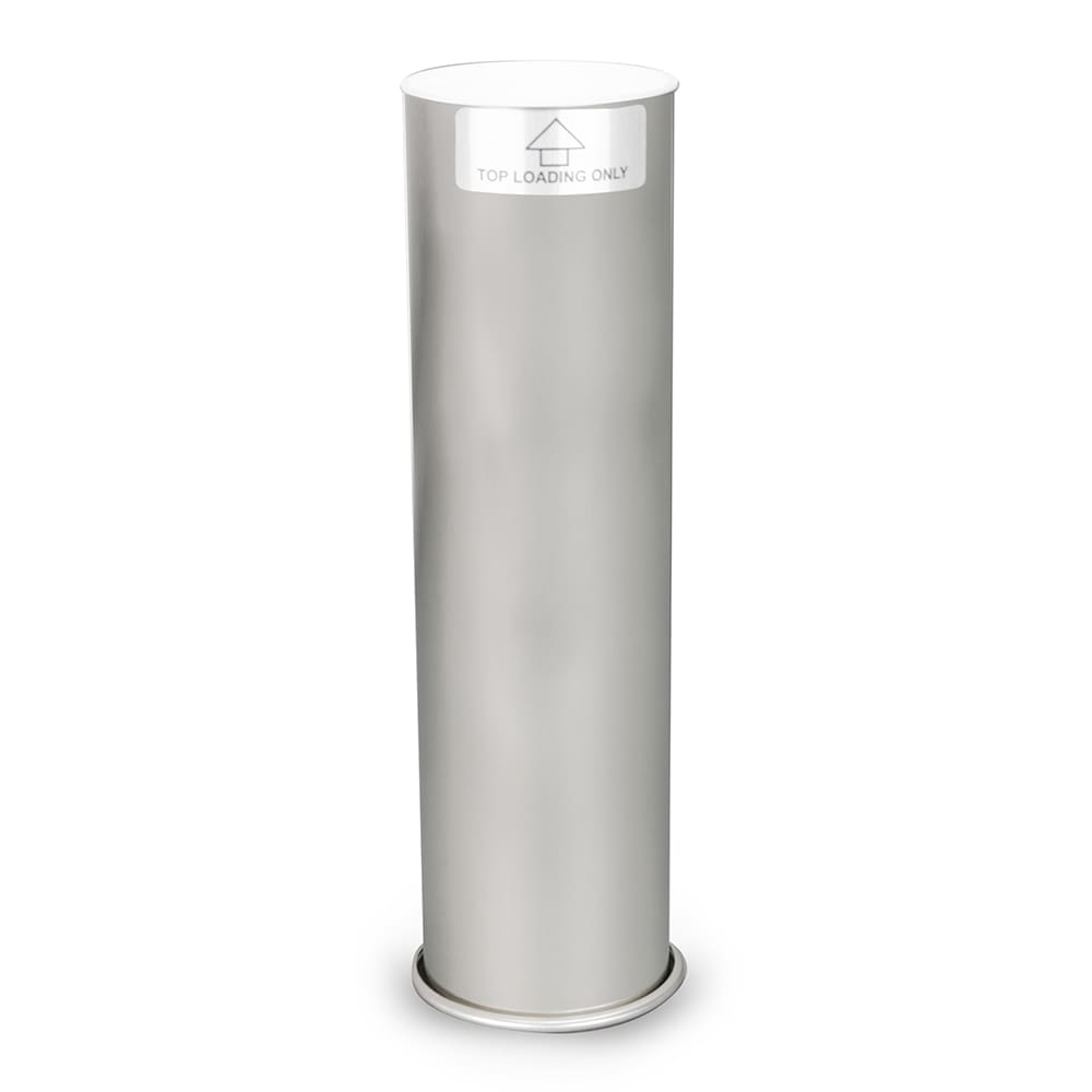 "Dispense-rite SFLADJ Souffle Cup Dispenser, Surface/Stand Mnt, 2-6 oz Cups, 12""L, Stainless"