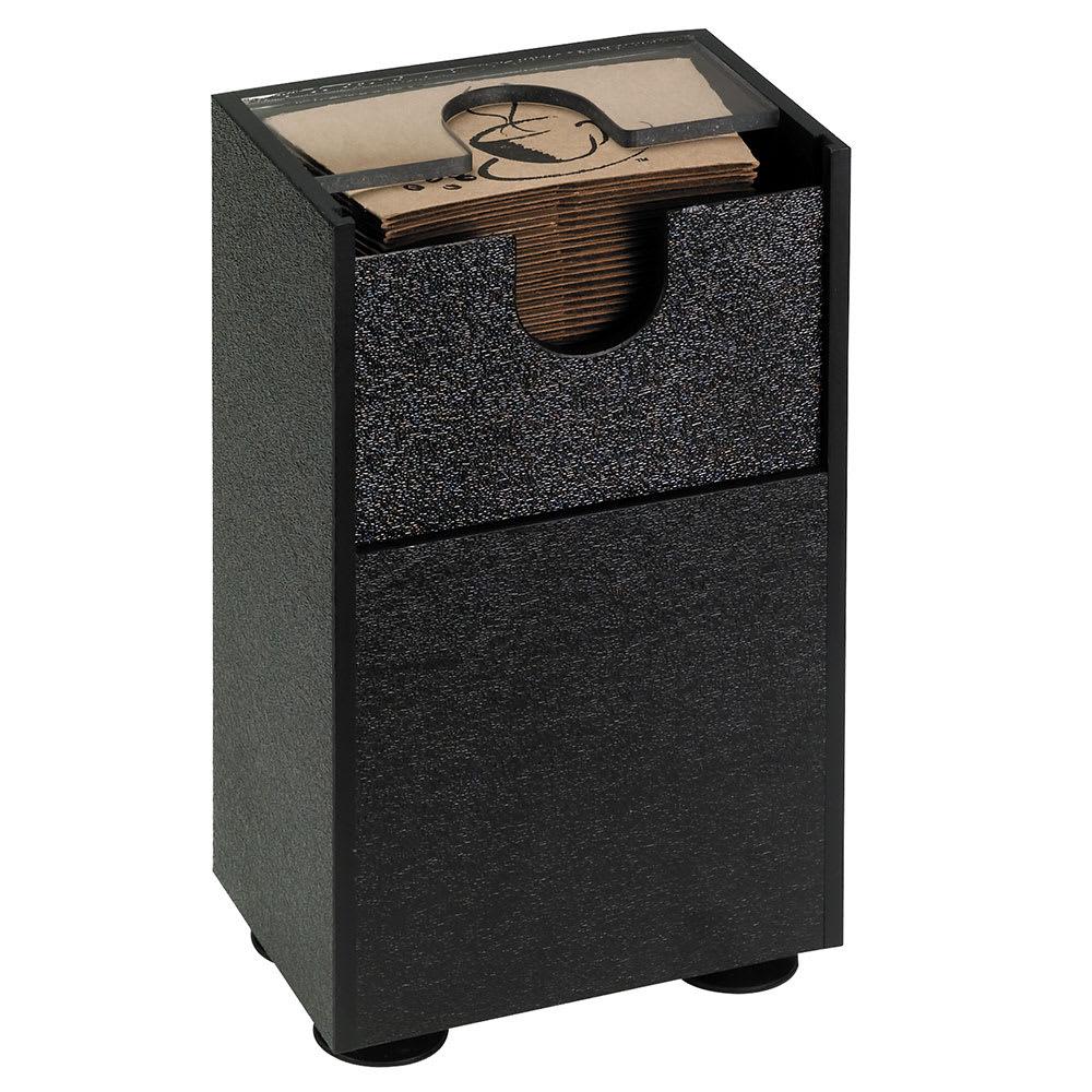 "Dispense-rite SLV10BT Coffee Sleeve Dispenser, 10""H x 5-3/4""W x 3-3/4""D, Black Polystyrene"