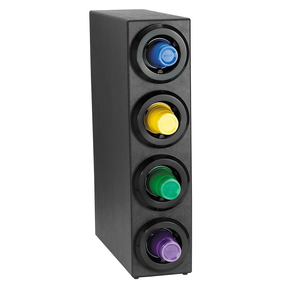 Dispense-rite STLS4BT Cup Dispenser Cabinet, (4) 8-44 oz Cups, Stackable, Black Polystyrene
