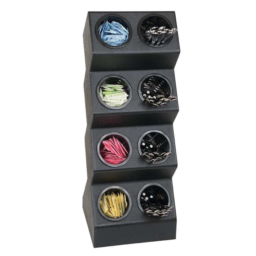 "Dispense-rite VSCH-8BT 8-Compartment Flatware Organizer - 10.5"" x 28.13"", Polystyrene, Black"