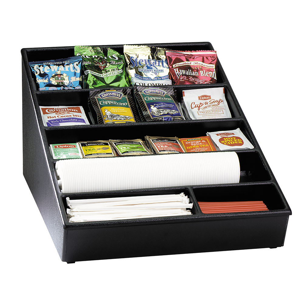 Dispense-rite WLS1BT Lid, Straw & Condiment Organizer, Wide, 9-1/2 x 16-1/2 x 23 in, Poly/ABS